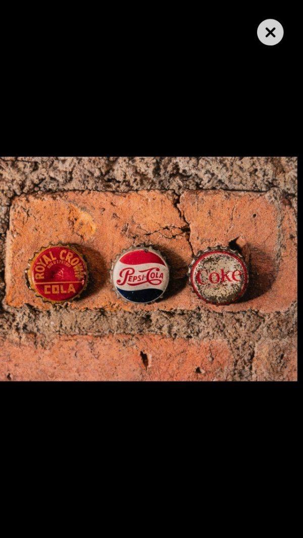 3 bottle caps