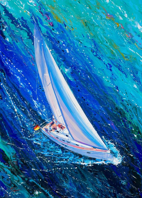 Loving The Thrill - blue fine art