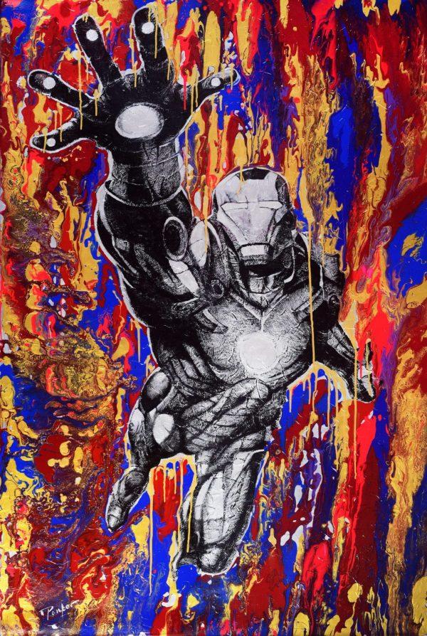 Sci-Fi Hero - blue fine art