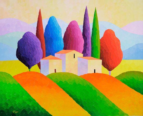 Tuscan Delight - blue fine art
