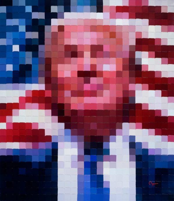 Trump USA - blue fine art