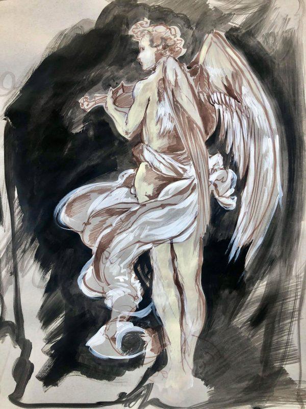 Sketch study in ink - Marta Wiley