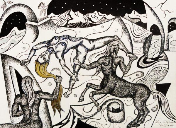 Battle-of-the-Amazons-and-Centaurs-Nina-Tokhtaman-Valetova