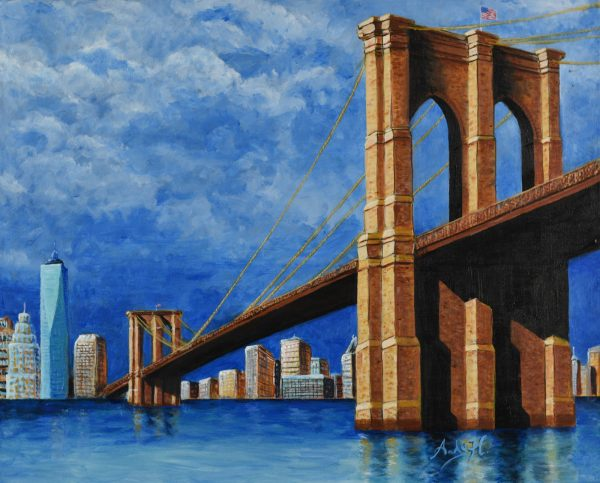 #NewYorkTough is the inspiration of this painting I created while the world began to grapple with Covid-19. It was created as an nhomage to all of the front-line workers who came to the rescue.