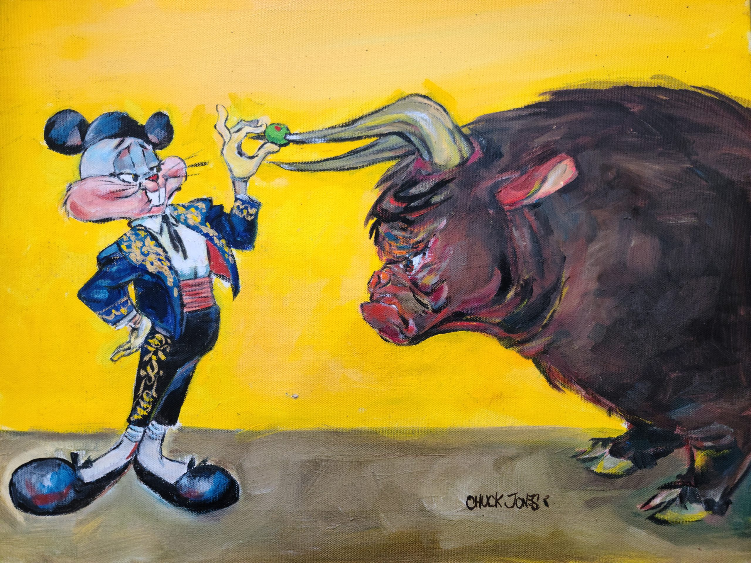 Bugs and Bull Oil Painting
