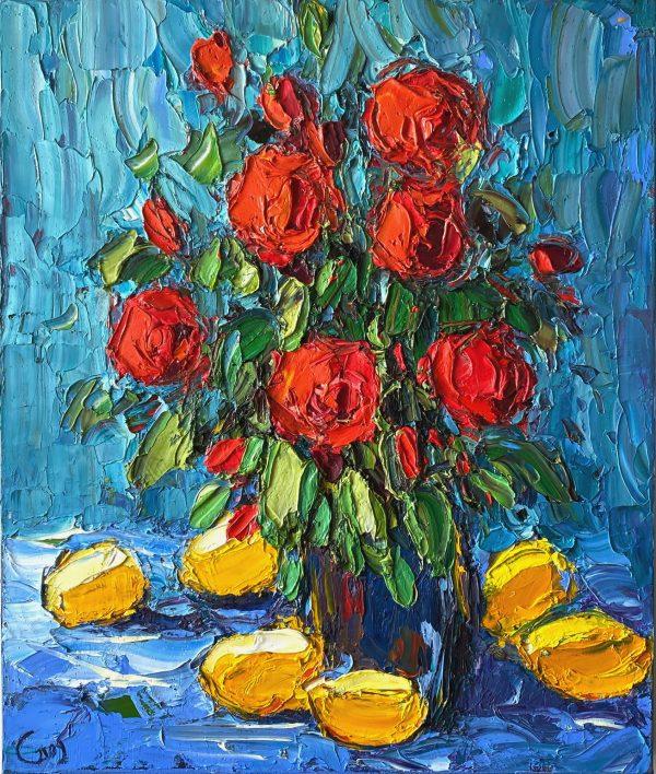Dmitry Syrov, Still Life With Lemons
