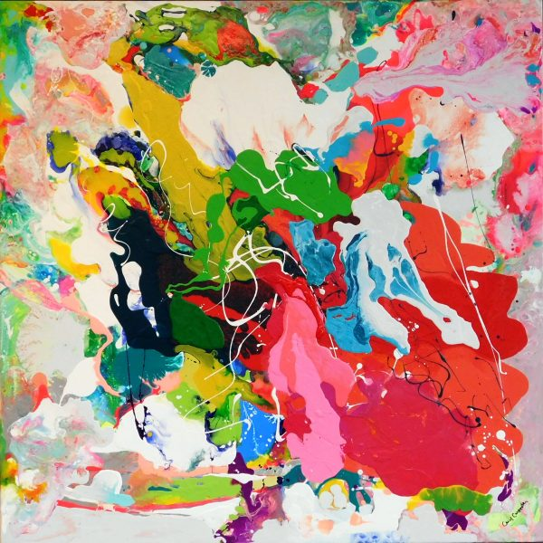 Fusion Acrylic 36x36 by Carol Carpenter
