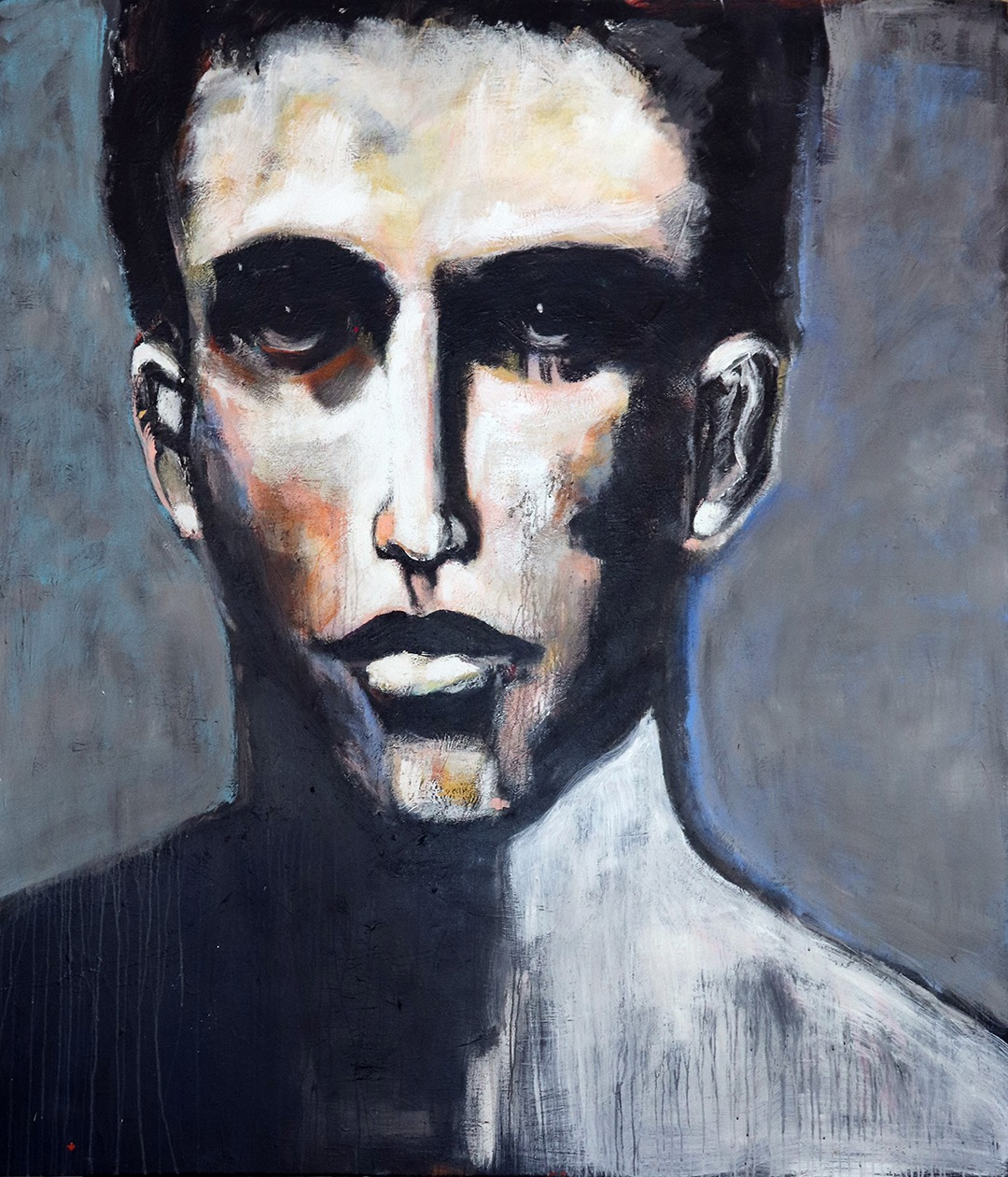 Man with White Face