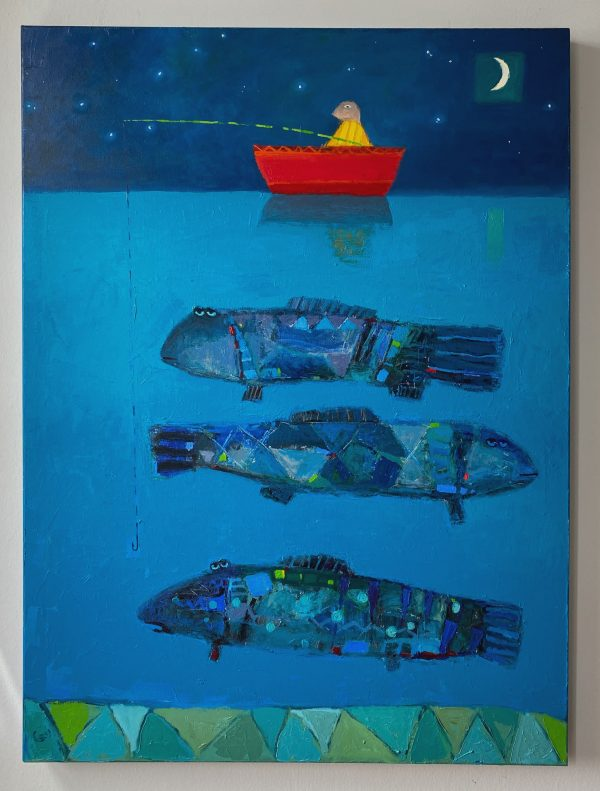 Night Fisher - Syrov Art Inc