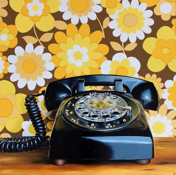 Rotary phone in its natural habitat