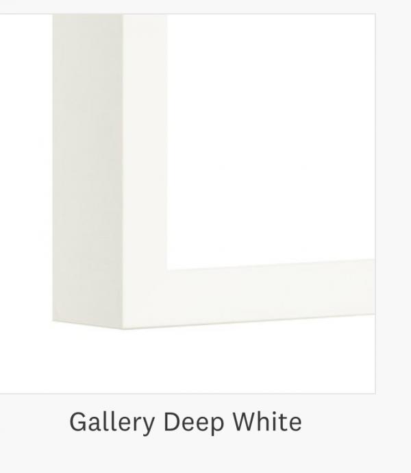 Gallery Deep White Frame Corner