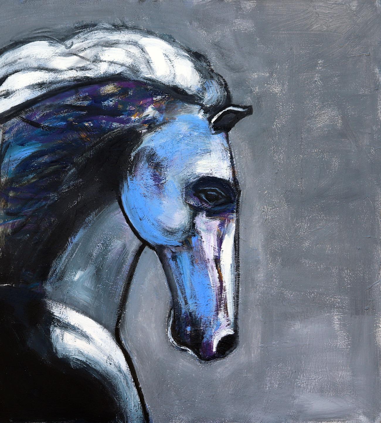 Stallion with Purple