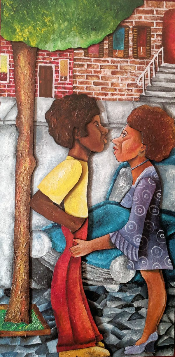 Inspired by 1970s and culture of African American self-expression of love and the embracing of who they were.