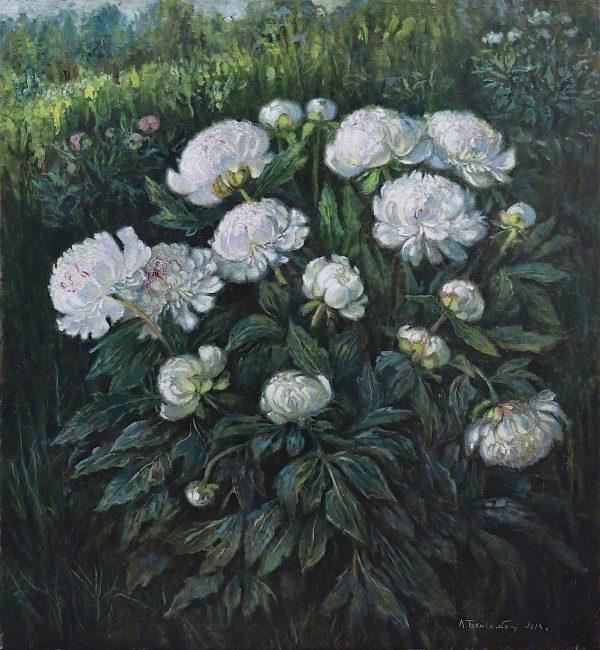 zangar'elena beisembinova_white peony bush