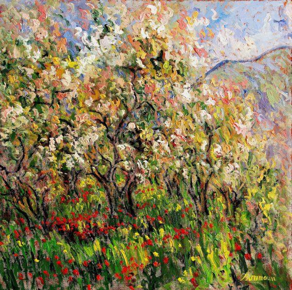 Almond Tree in Bloom - samir sammoun